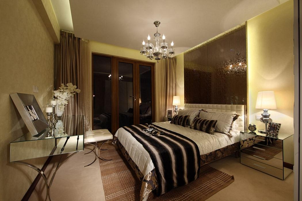 后现代风格卧室背景墙设计图