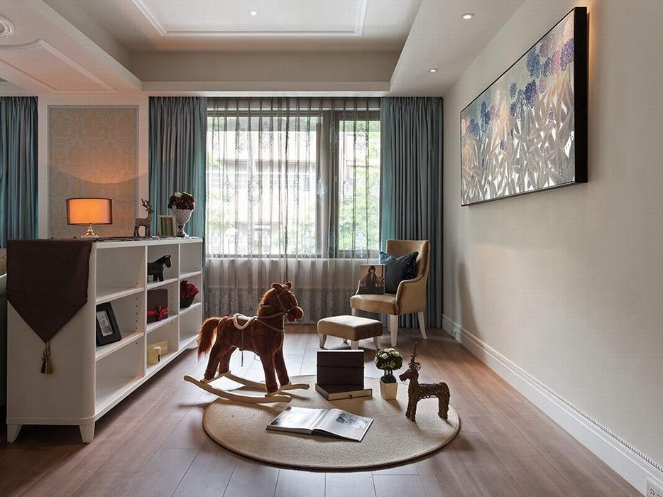 欧式风格休闲区背景墙装修效果图