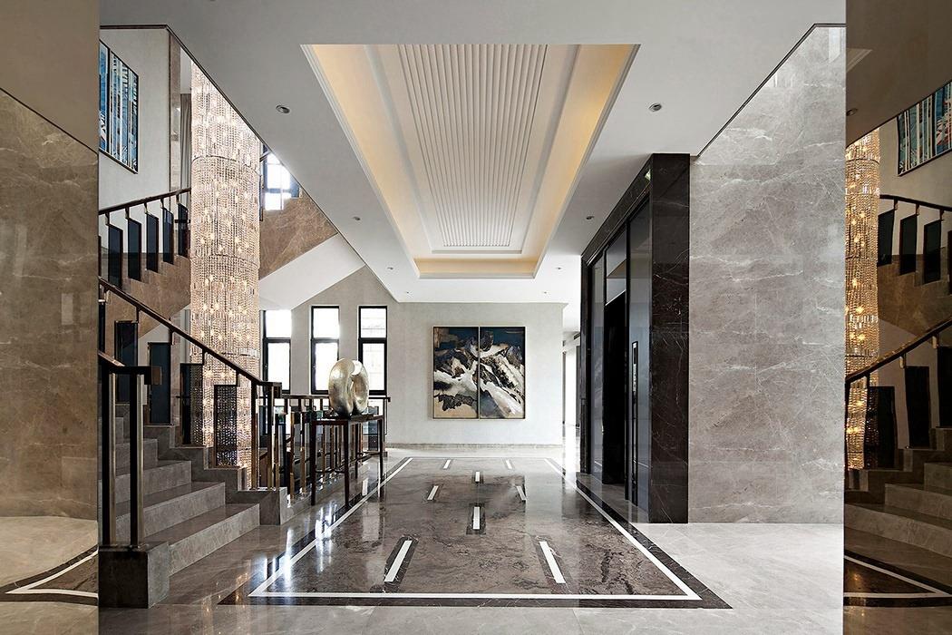 后现代风格过道/门厅背景墙装修设计