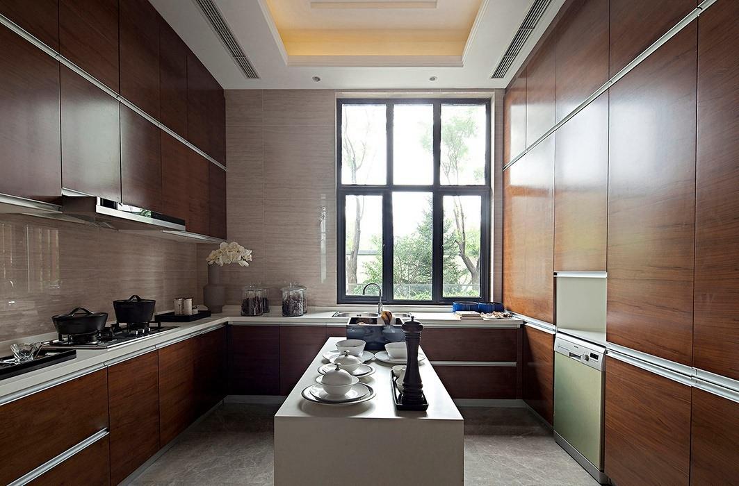后现代风格厨房橱柜家装样板间