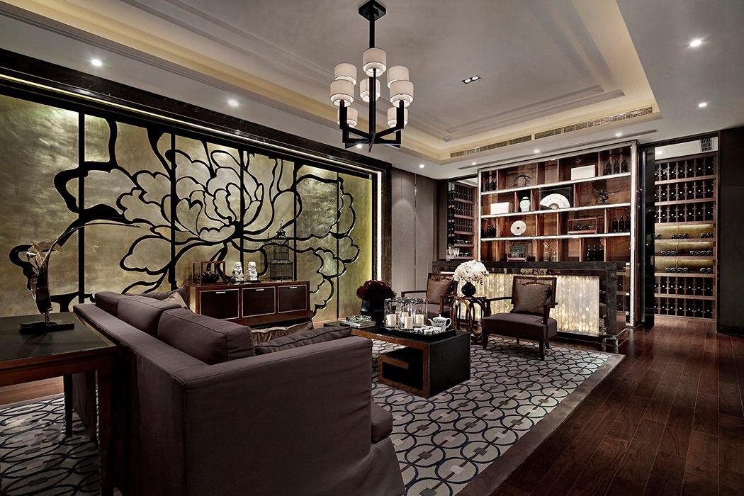 后现代风格客厅灯饰/照明家装样板间