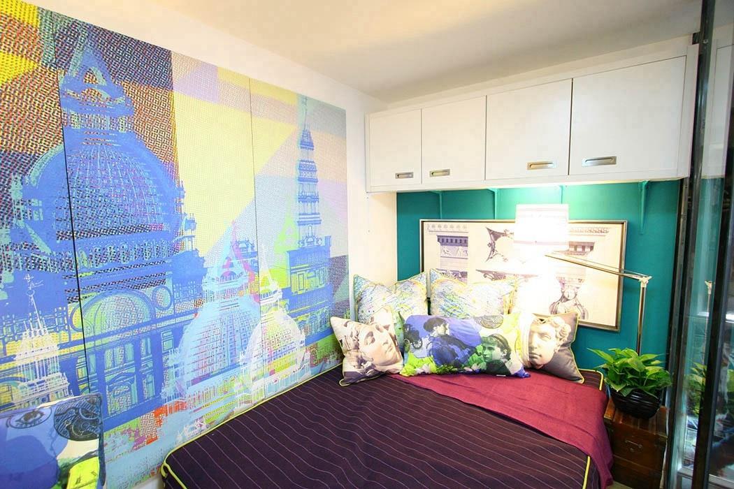 二居室卧室背景墙效果图