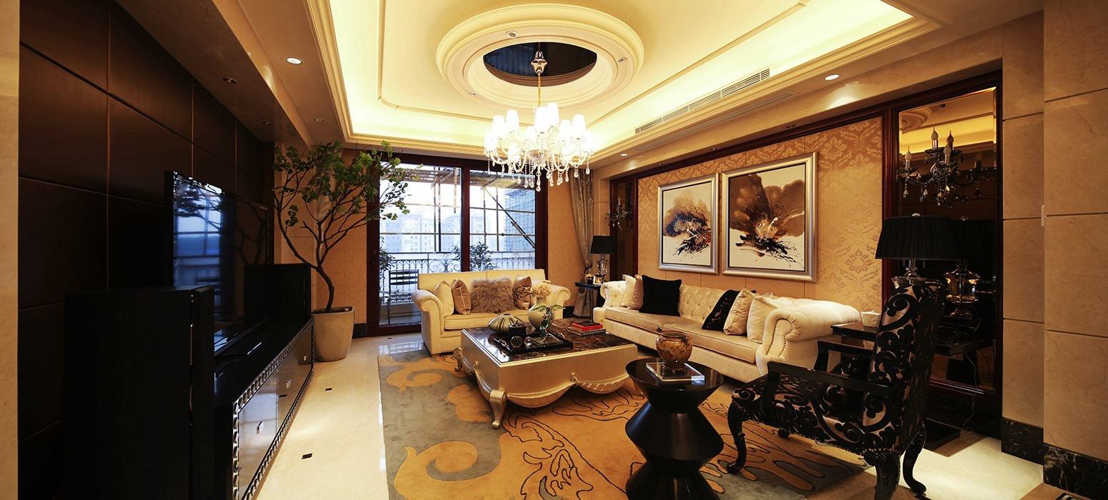 欧式风格客厅吊顶案例