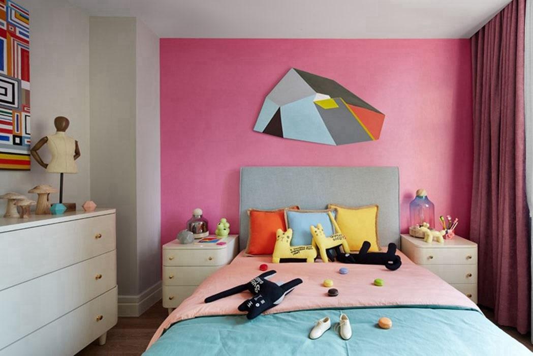 别墅卧室背景墙图片
